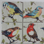 4 Ceramic Coasters in Cath Kidston Garden Bird